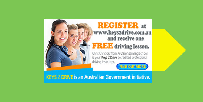 Register for a free lesson at keys2drive.com.au